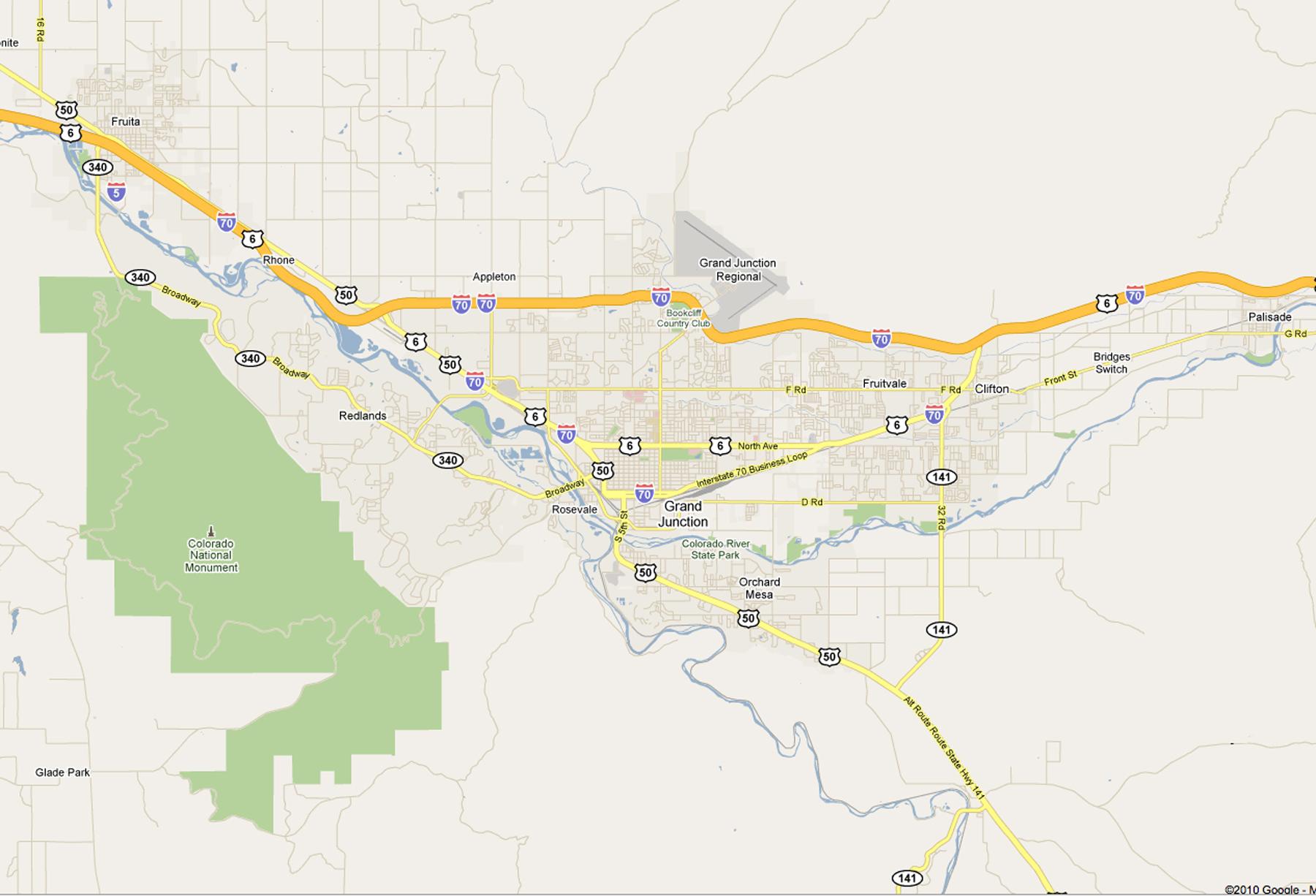 Grand Valley Colorado Map